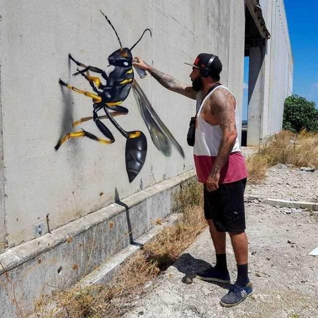Görenleri kendine hayran bırakan sokak sanatı