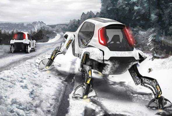 Hyundai'den yürüyen otomobil!