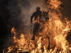 300 yıllık gelenekle atlar ateş üstünde yürütüldü