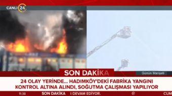 İstanbul´da fabrika yangını paniğe neden oldu
