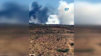 Rus uçakları, Suriye-Ürdün arasındaki serbest bölgede bulunan kükürt depolarını bombaladı, bir kükür