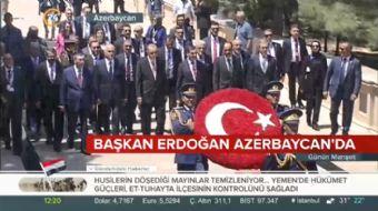 Başkan Erdoğan Azerbaycan´da Türk Şehitliği´ni ziyaret etti