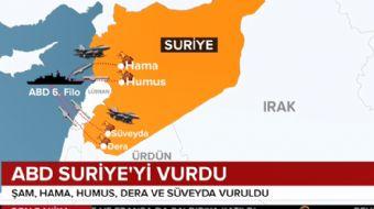 ABD´nin Suriye operasyonunda hangi bölgeler vuruldu?