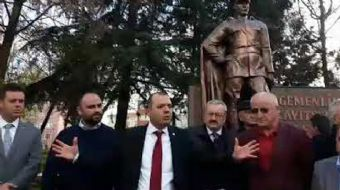 Geçtiğimiz günlerde Tekirdağ'ın Çorlu ilçesinde Atatürk heykeline yapılan saldırıyı kınamak isteyen