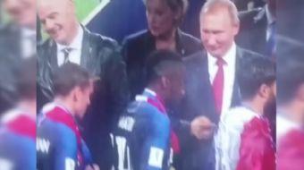 Fransa´nın FIFA Dünya Kupası Finali´nde Hırvatistan´ı 4-2 yenip şampiyon olduğu maçın ardından yapıl