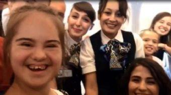Türk Hava Yollarının (THY) Zürih-İstanbul tarifeli seferinde 19 yaşındaki down sendromlu Tuğçe Tan´a