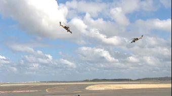 TEKNOFEST İstanbul´un ilk gün etkinlikler kapsamında iki Atak taarruz helikopteri alçak uçuş yaparak