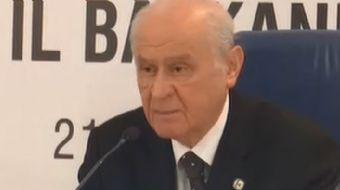 MHP lideri Devlet Bahçeli´den kritik CHP´nin Cumhurbaşkanı adayına ilişkin kritik yorumlarda bulundu