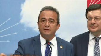 Basın toplantısı yapan CHP Parti Sözcüsü Bülent Tezcan  'Birinci turda iddiamız Sayın Erdoğan´ın seç