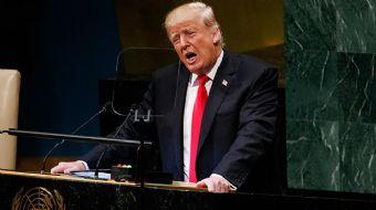 BM Genel Kurulu´nda konuşma sırasını kaçıran ABD Başkanı Trump, salona girmesinin ardından yaptığı k