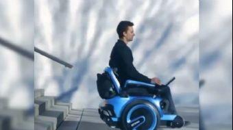 İsviçreli bilimcilerin ürettiği tekerlekli sandalye Scewo, kompakt yapısı ve merdiven tırmanabilen s