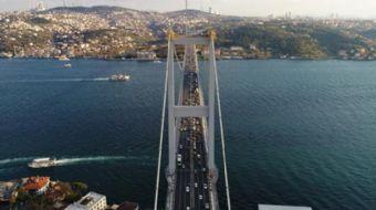 15 Temmuz Şehitler Köprüsünün kulelerinde 165 metre yükseklikte nefes kesen bakım onarım çalışması h