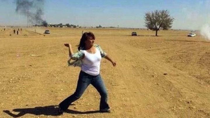 Ülkücülerden polise taş atan Aysel Tuğluk'a şok