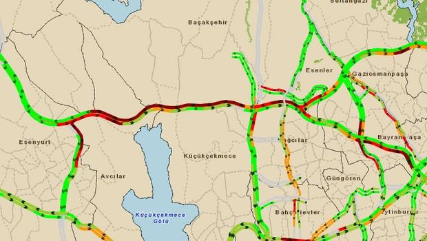 TEM%E2%80%99de+trafik+kazas%C4%B1+trafik+kilit