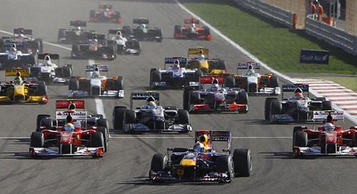 Bahreyn Grand Prix'sinde Sebastian Vettel birinci oldu