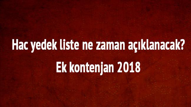 2018+Hac+yedek+liste+ne+zaman+a%C3%A7%C4%B1klanacak+