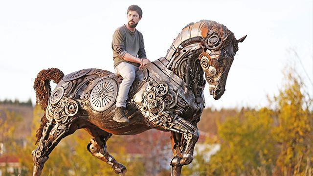 Yeniden doğan fantastik heykeller