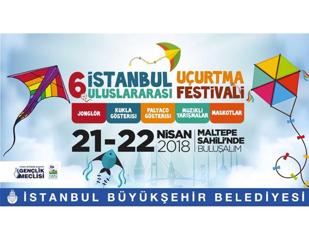 İstanbul Büyükşehir Belediyesi  6. Uluslararası Uçurtma Festivali Başlıyor