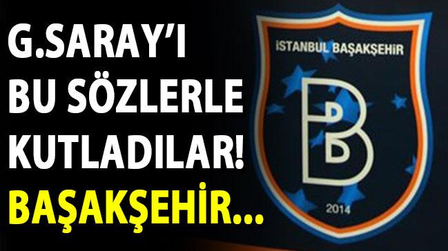 Medipol Başakşehir, Galatasaray'ın şampiyonluğunu kutladı