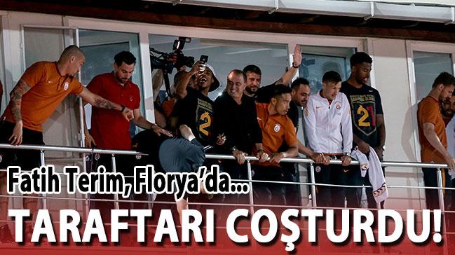 Fatih Terim balkona  çıktı, taraftar coştu!