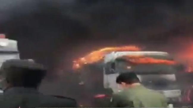 Suudi Arabistan ve BAE arasındaki El Batha sınırında yangın çıktı