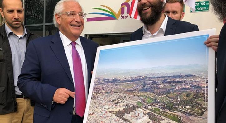 ABD'nin İsrail büyükelçisinden işgal pozu
