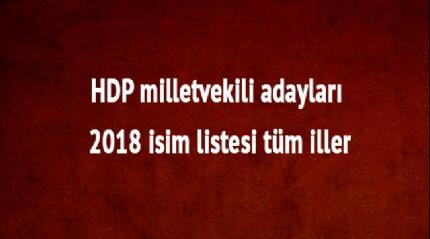 HDP milletvekili 2018 isim listesi tüm iller HDP son dakika milletvekili adayları