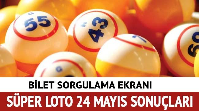 Süper Loto 24 Mayıs sonuçları 2018 Milli Piyango Süper Loto çekilişi bilet sorgula