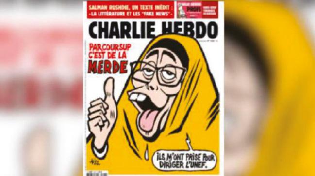 Charlie Hebdo yeni bir iğrençliğe imza attı