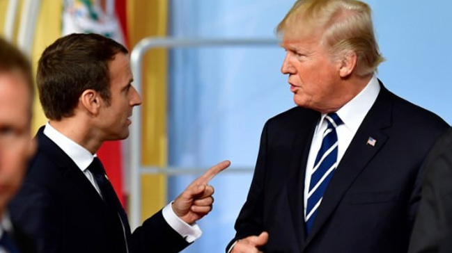 Fransa+Cumhurba%C5%9Fkan%C4%B1+Macron,+ABD%E2%80%99yi+G7%E2%80%99den+%C3%A7%C4%B1karmakla+tehdit+etti+