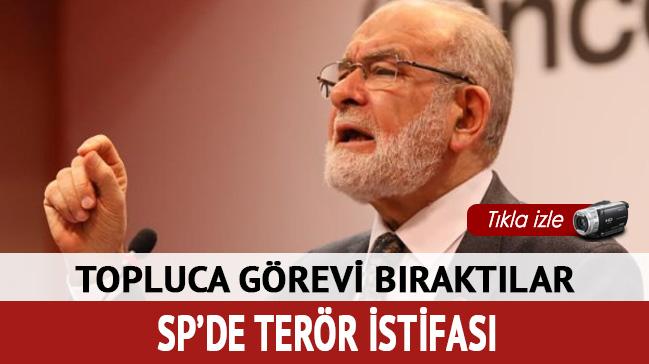 Saadet Partisi'nde terör istifası