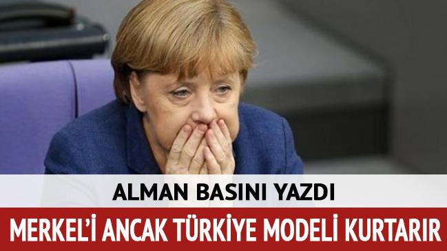 Bild: Merkel'i ancak Türkiye modeli kurtarır