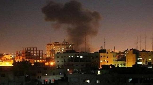 %C4%B0srail+Gazze%E2%80%99de+Hamas%E2%80%99a+ait+bir+hedefi+vurdu