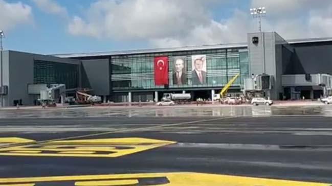 Cumhurbaşkanı Erdoğan saat 20:00 ile 20:30 arasında İstanbul Yeni Havalimanı'na inecek