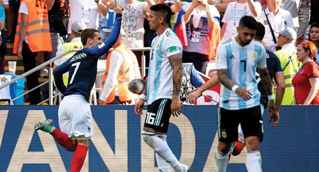 Bildergebnis für Fransa çeyrek finalde, Arjantin veda etti
