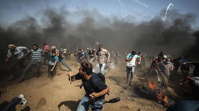 %C4%B0srail+askerleri+Gazze+s%C4%B1n%C4%B1r%C4%B1nda+1+Filistinliyi+yaralad%C4%B1++