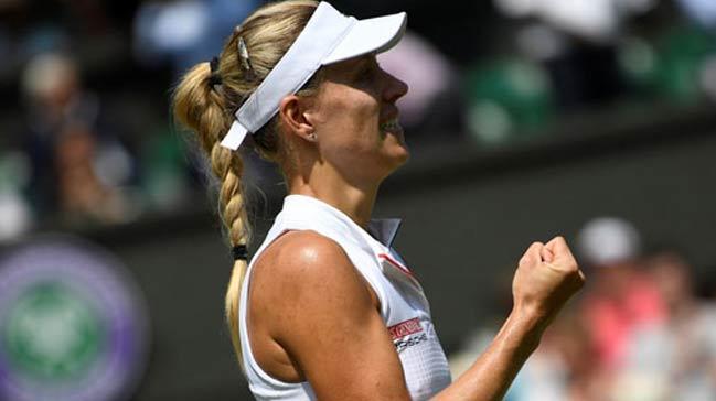 Wimbledon%E2%80%99da+ilk+finalist+Kerber