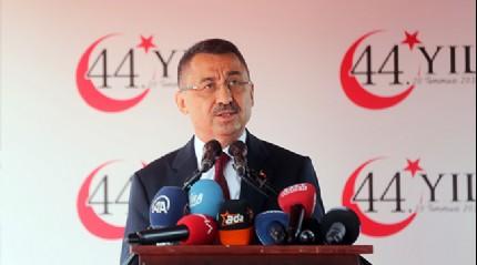 Cumhurbaşkanı Yardımcısı Fuat Oktay: Her türlü şartlarda Kıbrıs Türk halkının haklarını koruyacağız
