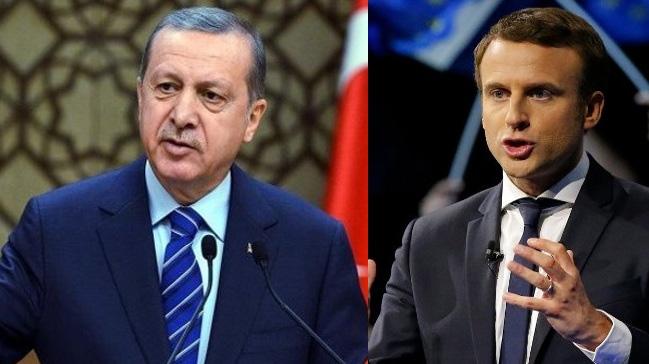 Başkan Erdoğan, Fransa Cumhurbaşkanı Macron ile görüştü