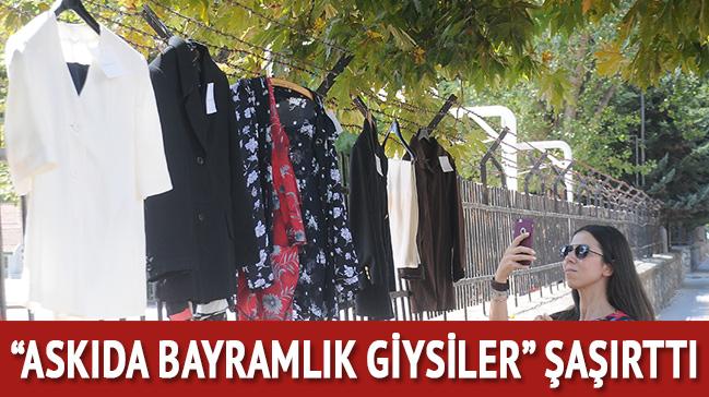 Yalova'da 'askıda bayramlık giysiler' şaşırttı