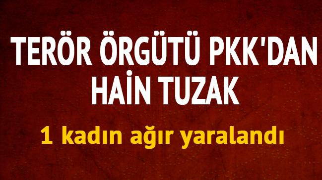 Terör örgütü PKK'dan hain tuzak: Mayına basan kadın ağır yaralandı
