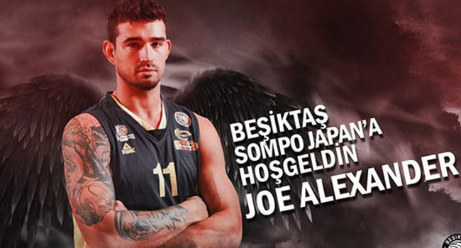 Beşiktaş Sompo Japan, Joe Alexander'i kadrosuna kattı