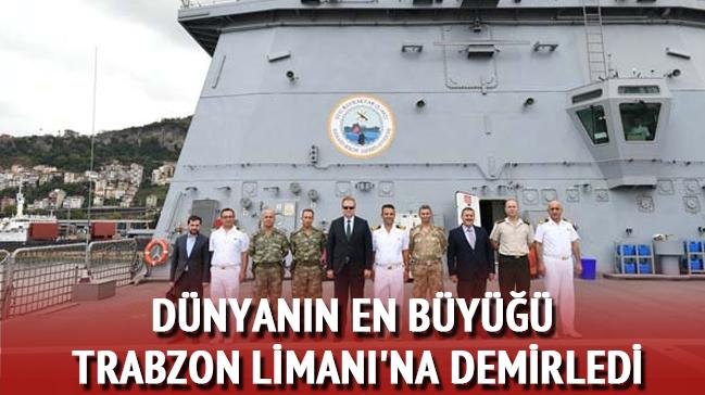 Yerli ve milli imkânlarla üretilen dünyanın en büyük tank çıkarma gemisi TCG Bayraktar Trabzon Limanı'na demirledi.