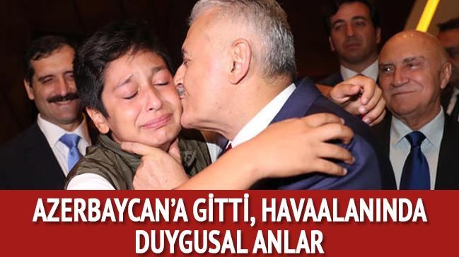 TBMM Başkanı Azerbaycan'a gitti... Havaalanında duygusal anlar
