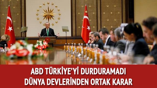 ABD'nin yaptırımları Türkiye'yi durduramadı