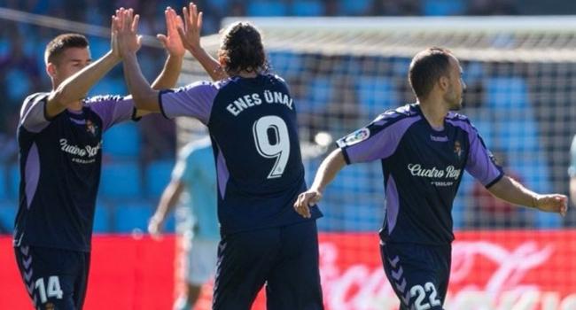 Enes Ünal, Real Valladolid formasıyla ilk golünü attı