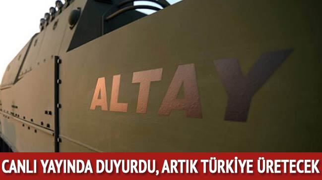 Canlı yayında duyurdu! Artık Türkiye üretecek...