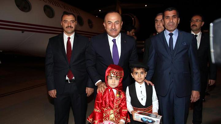 Dışişleri Bakanı Çavuşoğlu, Elazığ'da gitti