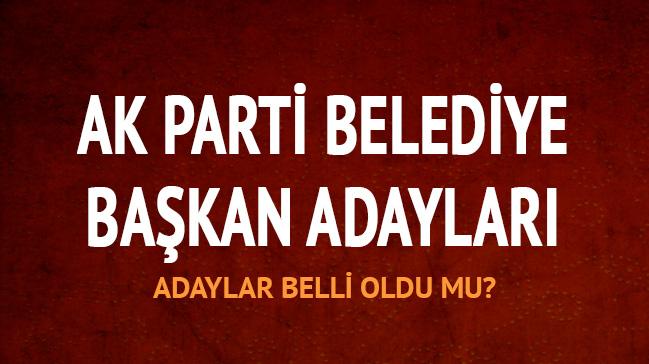 AK Parti belediye başkan adayları isim listesi 2019 AK Parti belediye başkan adayları belli oldu mu?
