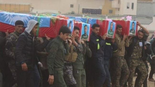 4 PKK/YPG'li terörist Münbiç'te kazdıkları hendeklere gömüldü